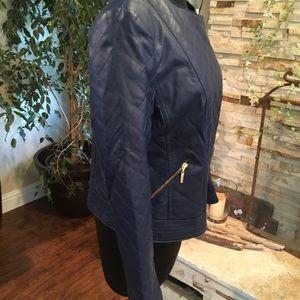 IMAN Jackets & Coats - IMAN Genuine Leather Moto Jacket